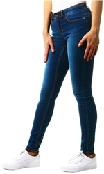Dark Denim Regular Mid Rise Skinny Jean by Only
