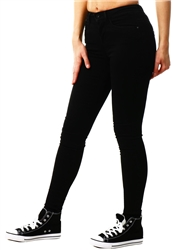 Black Royal Reg Pim Mid Rise Skinny Jean by Only