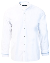 Ottomoda White Slim Fit Granda Collar Shirt