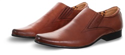 Front Tan Smooth Point Shoe