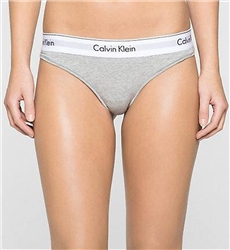Calvin Klein Grey Thong - Modern Cotton