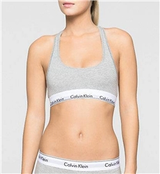 Calvin Klein Grey Heather Bralette - Modern Cotton