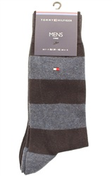 Hilfiger Denim Navy 2 Pack Stripe Socks