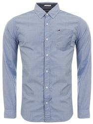 Tommy Jeans Estate Blue Regular Fit Oxford Plain Shirt