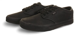 Vans Black Premium Leather Authentic Decon Shoes