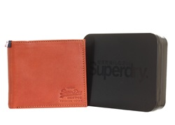 Superdry Tan Wallet In A Tin