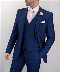 Cavani Navy Ford Wedding Three Piece Suit