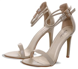 No Doubt Nude Barely There Strap Shoe