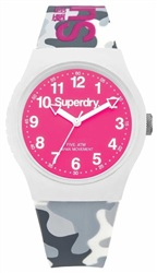 Superdry White/Pink Camo Watch