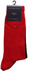 Hilfiger Denim Red/Navy 2 Pack Socks
