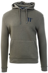 Khaki Core Pullover Hoodie by 11degrees