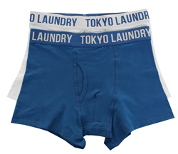 White Twin Pack Boxers by Tokyo Laundry