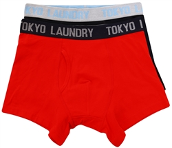 Tokyo Laundry Red Twin Pack Boxers