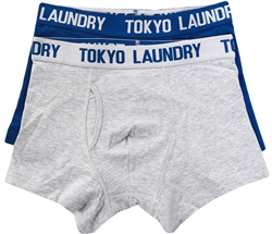 Tokyo Laundry Blue Twin Pack Boxers