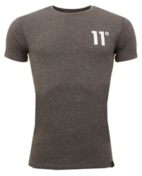 11degrees Charcoal Core Plain Tee