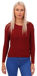 Only Red Geena Knit Long Sleeve Jumper