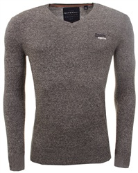 Superdry Grey V-Neck Sweater