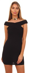 Ax Paris Black Fitted Bodycon Mini Dress