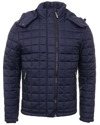 Superdry Navy Fuji Double Zip Hooded Jacket
