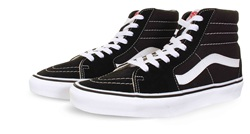 Vans Black/White Sk8-Hi Shoes