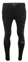 11degrees Black Distressed Jean