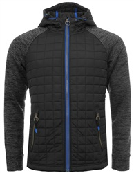 Superdry Black/Space Grey Mountain Quilted Zip Hoodie