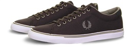 Fred Perry Charcoal Underspin Canvas Trainer