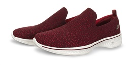 Skechers Burgundy Go Walk Slip On Shoes