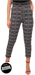 Missi Lond Black Check Trousers