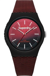 Superdry Burgundy Sports Watch