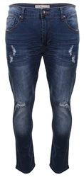 Crosshatch Denim Torn Skinny Jean
