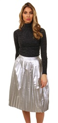 Noisy May Silver Arianna Midi Skirt