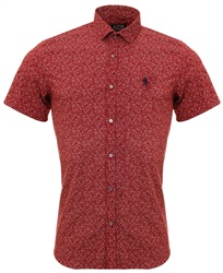 Alex & Turner Burgundy Pattern Shirt