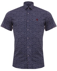Alex & Turner Navy Pattern Shirt