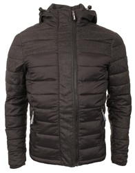 Superdry Truest Black/Black Marl Fuji Colour Bloack Hooded Jacket