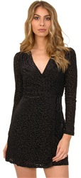 Fashion Union Black Leopard Print Wrap Dress