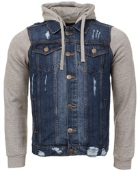 Brave Soul Denim Hooded Denim Jacket