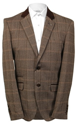 Kaymans Brown Connall Tweed Check Blazer
