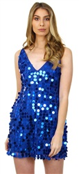 Ax Paris Blue Sequin Dress