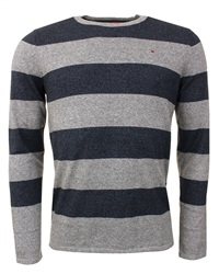 Hilfiger Denim Navy Stripe Fine Knit Sweater