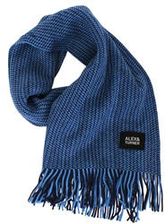 Alex & Turner Blue Knitted Scarf