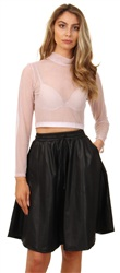 Noisy May Black Knee Lenght Skirt