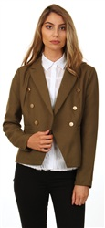 Only Olive Amy Millatry Jacket