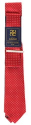 Kaymans Red Tie Pocket Square And Pin Set