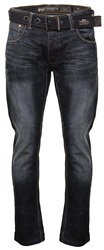 Crosshatch Denim Techno Straight Leg Jean