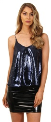 Cutie London Navy Sequin Cami Top