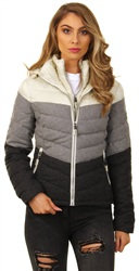 Superdry Grey Fuji Chevron Mix Hooded Jacket