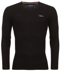 Superdry Black V Neck Knit Sweater