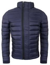 Superdry Navy Fuji Triple Zip Through Jacket