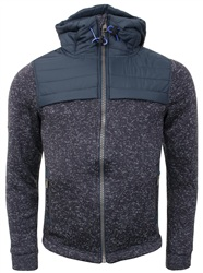 Superdry Navy Storm Hybrid Zip Up Hoodie